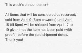 Weekly announcement 😊