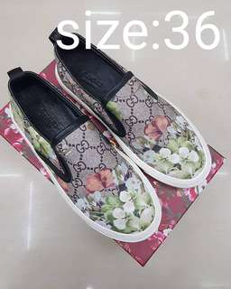 Gucci GG Supreme Tian Canvass Slip On Sneakers