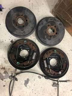 Toyota Wish brake drum complete set