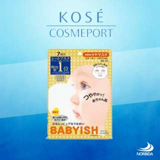 Kose Cosmeport Clear Turn Babyish Brightening Mask 27ml X 5pcs