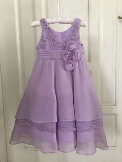 Lilac Formal Gown 12m (Flower girl)