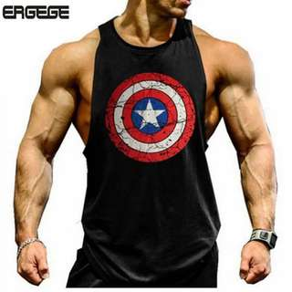 Captain America Workout TOP/Singlet