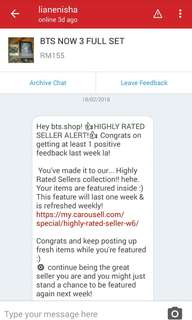 6TH HIGHLY RATED SELLER ! THANK YOU♡