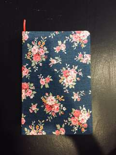 Denim vintage floral notebook