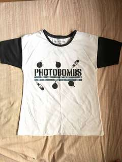 White Top with Black Sleeves