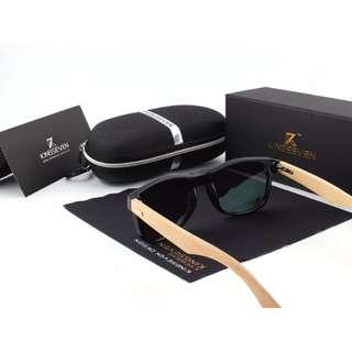 Kingseven Polarized Wooden Bamboo Sunglasses