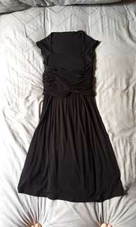 asos black maternity dress