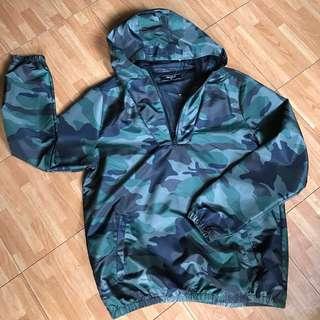 Forever 21 Camouflage Windbreaker Jacket