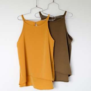 Chelsea Top - Mustard & Olive