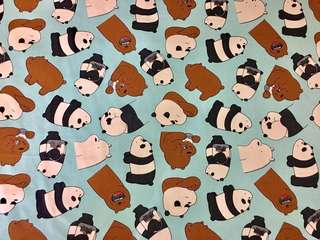 We Bare Bears canvas fabric - sold