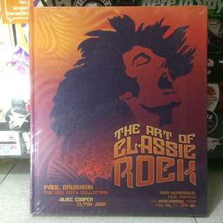 """The Art of CLASSIC ROCK"" (Rock Memorabilia, tour posters, and merchandise from 70s, 80s, and 90s, Foreword by ALICE COOPER, afterword by ELTON JOHN #books"