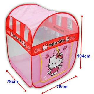 *FREE DELIVERY to WM only / Ready stock* Hello kitty tent with 30pcs balls as shown design/color. Free delivery is applied for this item.