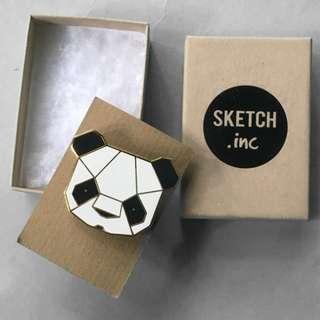 Sketch Inc. Panda Brooch (England-based brand)
