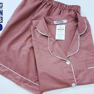 SALE piyama satin embos celana pendek L