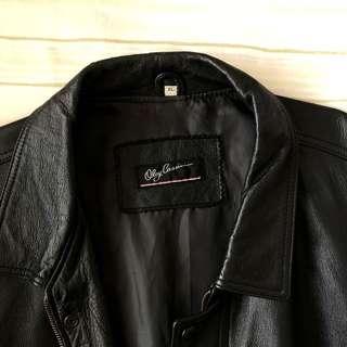 NAME YOUR PRICE - Oleg Cassini Black Leather Jacket