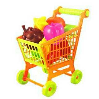 *FREE DELIVERY to WM only / Ready stock* Kids toys chart trolley with 10pcs fruits each as shown design/color. Free delivery is applied for this item.