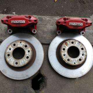 RX7 FD3S 4pot brake disc & caliper (Front)