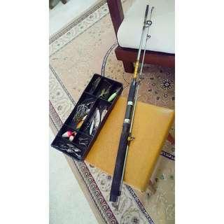 Vintage Ofmer Delta Fishing Rod
