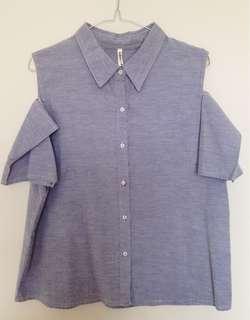 Cut-Out Shoulder Shirt