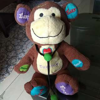 Talking and moving monkey