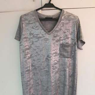 Gray Mettalic Top