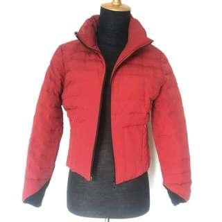 Jacket jaket winter coat import red burgundi