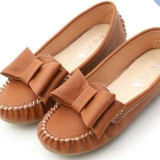 🚚 D+af大蝴蝶結莫卡辛豆豆鞋