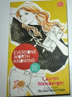 Novel Everyone Worth Knowing - Lauren Weisberger
