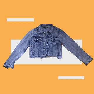 Forever21 Crop Jacket Denim