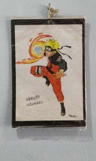 Antique hand drawn picture of sasuke and naruto