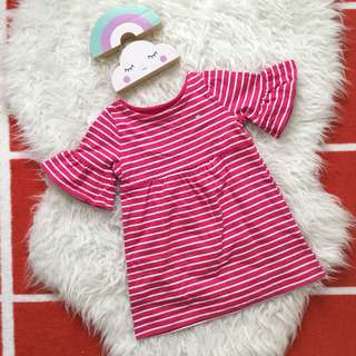 Carters striped bellsleeve dress poney gap guess