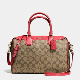 BENNETT SATCHEL IN SIGNATURE COACH F36187