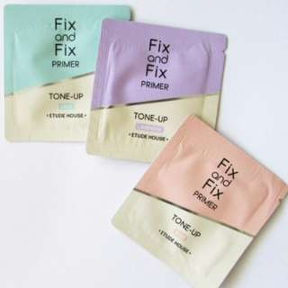 Sachet Fix and Fix Primer TONE UP Fixed / Baby Choux Base - Etude House