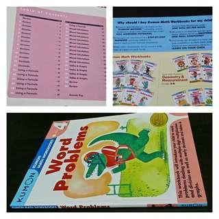 Kumon Math Workbook: Word Problems Grade 4