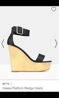 BETTS BLACK WEDGES SIZE 7 - rent only