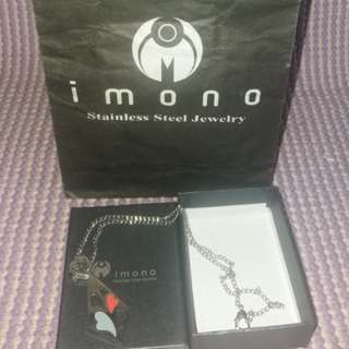 Imono stainless steel heart necklace