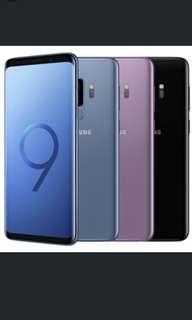 原封港行Samsung s9 s9+ 64 128 256各色跟行單