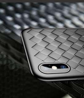 Iphone X BV款式軟保護套(黑/紅)