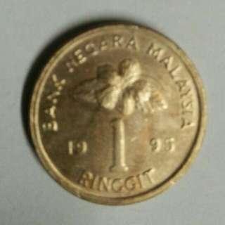 Koin/Syiling Malaysia 1 ringgit. Tahun 1994