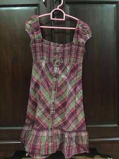 squere pattern dress