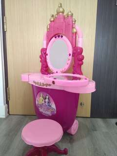 Princess dressing table, with accessories & additional mirror