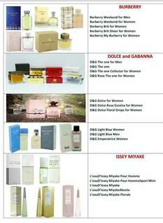 US tester perfumes for men and women