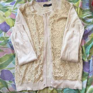 Cream Cardigan Jacket