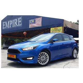 "FORD FOCUS S+ 1.5 ( A ) ECOBOOST SPORT BACK !! LATEST NEW MODEL !! FULL SERVICE RECORD !! 5 YEARS  WARRANTY !! PREMIUM HIGH PREMIUM THATS COMES WITH PUSH START FULL LEATHER SEAT PADDLES SHIFT 17"" ALLOY RIMS AND ETC !! ( WX 9361 X ) 1 CAREFUL OWNER !!"