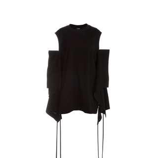 J Koo - 圓領露肩褶疊袖上衣