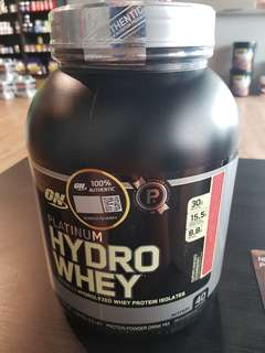 ON platinum hydro whey supercharged strawberry
