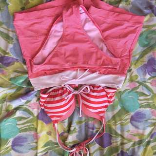 Red and White Swimwear 3 pc set