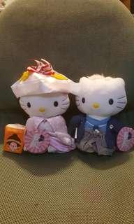 絕版麥當勞Hello Kitty日本服結婚公仔一套2隻,全新有吊牌