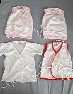 Baby clothes tie side
