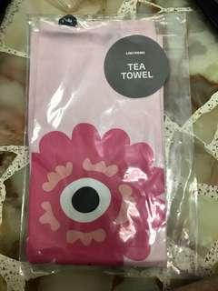 BINB line friends tea towel